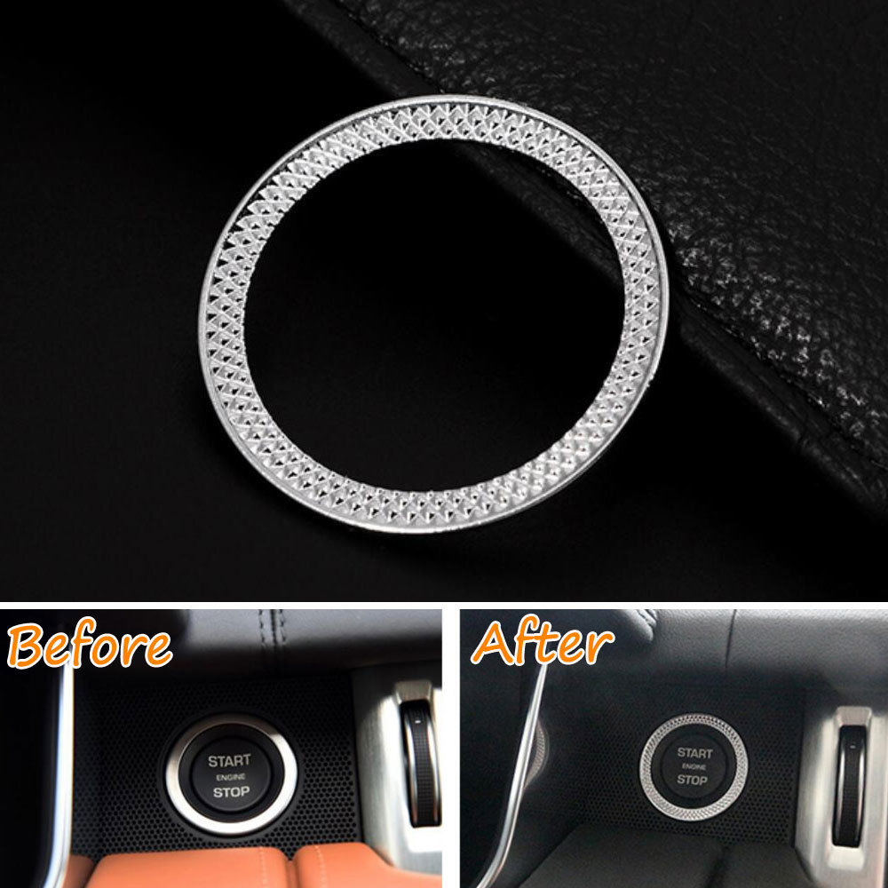 ffa0cff6045e ABS Engine Start Stop Ignition Switch Cover Ring Trim Decoration For Land  Rover Range Rover Sport 2014-2016 Car Styling