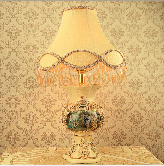 Wholesale luxurious ceramic desk lamp hand made ou shigu for Arts and crafts wholesale