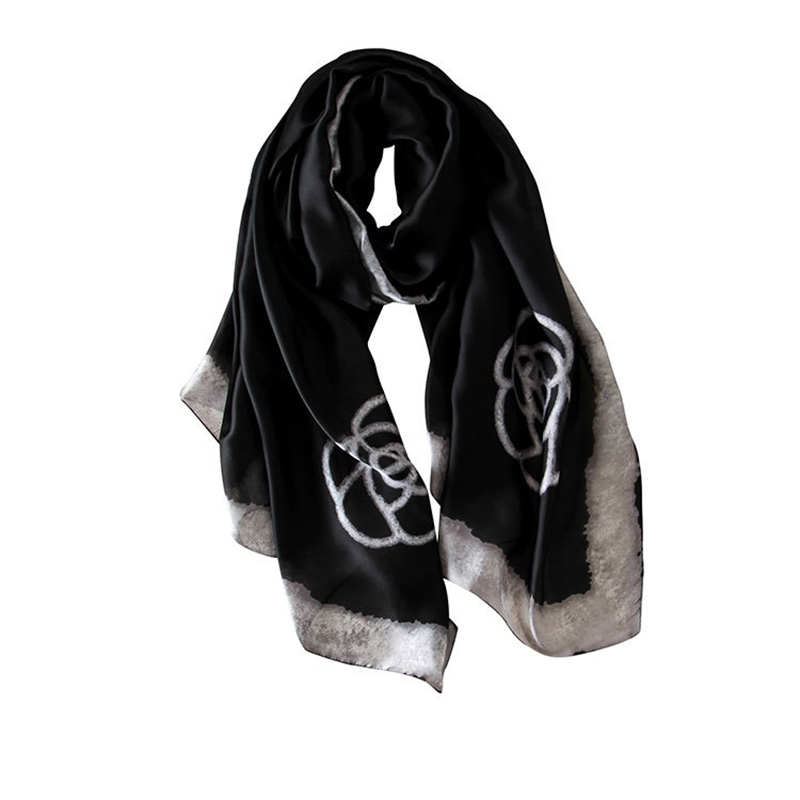 Luxury Scarf For Women Plaid Summer Fashion Silk Scarf Women Long Scarves Shawls Printing Scarfs for Ladies Hijab 2019 in Women 39 s Scarves from Apparel Accessories