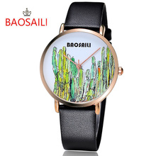 BAOSAILI Classic Top Brand New Pattern Charming Fancy  Simple Cartoon Pattern Gold Plating Case Fashion Quartz Watch BS-1014