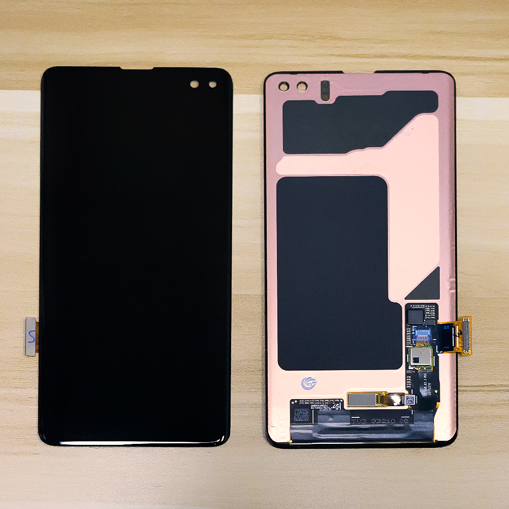 Super AMOLED For <font><b>SAMSUNG</b></font> GALAXY <font><b>S10</b></font> <font><b>LCD</b></font> Touch <font><b>Screen</b></font> Assembly Digitizer Frame For <font><b>Samsung</b></font> <font><b>S10</b></font> Plus G9750 Display S10E <font><b>LCD</b></font> G970F image