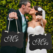 Mr and Mrs Table Signs Wall Stickers Vinyl Art Wedding Decor Gifts And Cards Reception Dessert Reserved Sign W393