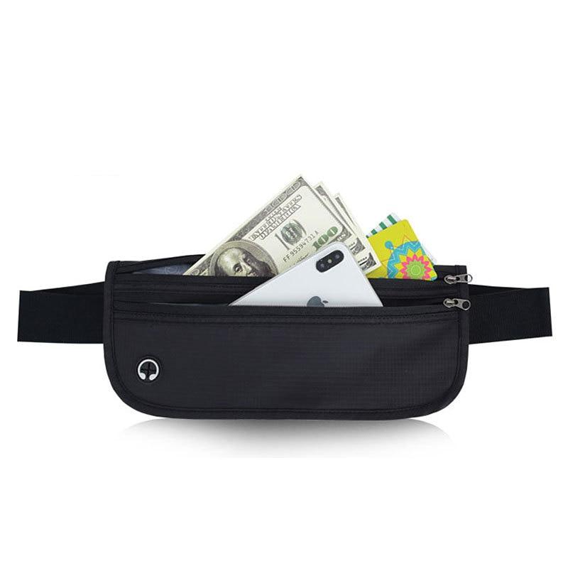 Outdoor Travel Waist Bag Waterproof Mobile Phone Holder Jogging Belt Belly Bag Women  Fitness Bag Lady Next To Skin  Accessories