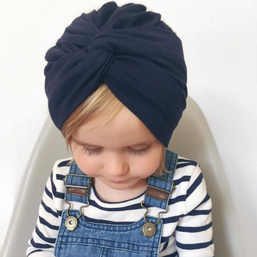 Indian Hat Cotton Bandanas Baby Girls Kids Turban Headband Hair Head Bands Wrap Accessories For Children Headdress Headwrap