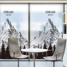 DICOR Mountain Window Decorative Films Forest Solid Color Black Modern Fashion Glass Stickers BLT2133