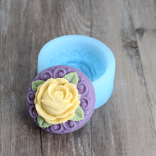 Nicole H0048 Silicone Soap Mold Round Rose Embossed shape Craft Handmade Making Mould