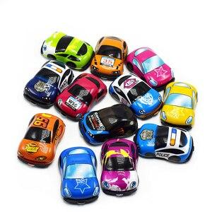 Image 2 - 6/12個プルバックカーのおもちゃレーシングカーベビーミニ消防車漫画のプルバックバストラックの子供たちおもちゃ子供のボーイギフト用wyq