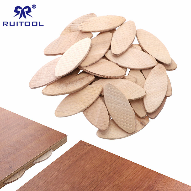100pcs/300pcs Wood Dowel Beech Woodworking Biscuit Joiner 20# 10# 0# Biscuits For Tenon Wood Jointing