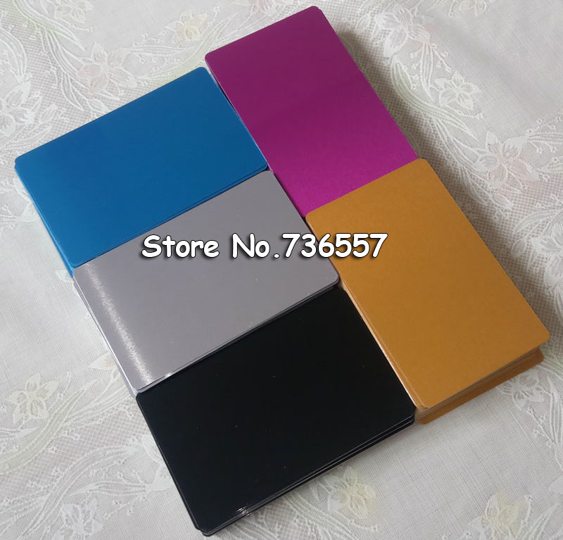 100pcs Blank sublimation metal name card printing blank business ID card use sublimation ink and paper five colors lace fower vintage wedding invitations laser cut blank paper pattern printing invitation card kit ribbons decorations