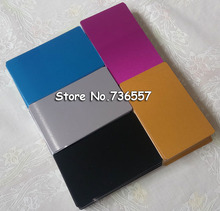 100pcs Blank sublimation metal name card printing blank business ID card use sublimation ink and paper five colors