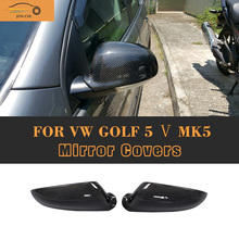 Carbon Fiber MK5 Replace style car side mirror covers for VW,auto carbon mirror shield for golf 5 стоимость