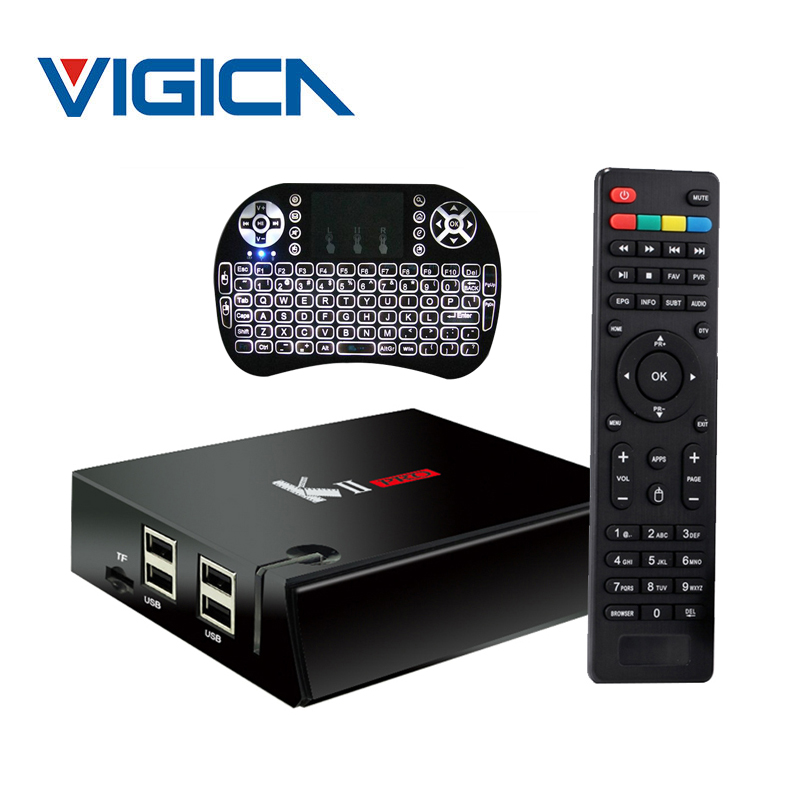 KII Pro DVB S2 DVB T2 Android 5.1 TV Box Amlogic S905 Bluetooth 2GB/16GB 2.4G/5G Wifi Satellite Receiver+backlight I8