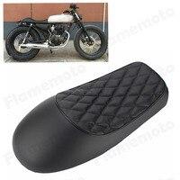 Motorcycle Cafe Racer Vintage Saddle Hump Custom Seat For Honda CB350 CB450 CB750 Black