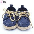 2016New Весна Осень Малышей Первый Ходунки Детская Обувь Мальчик в Девочке Мягкой Подошвой Шпаргалки Шнурки Тапки Prewalker Sapatos