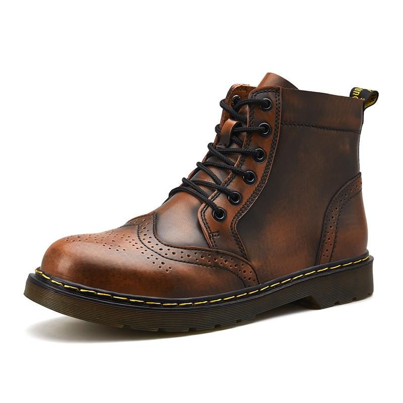 38-47 plus size Winter men boots DR martens boots Block warm snow shoes  doctor martens botas men military boots ankle work boots 4ff25f18678c