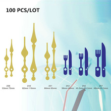100PCS Colorful Fashion DIY wall clock hands metal minute hour pointer Multiple colors and shapes Repair kits wall Clock needles best sale black metal 100 sets clock needle clock hands for diy replacement parts clock pointer hour minute hands