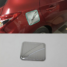 Car Accessories Exterior Decoration ABS Chrome Oil Fuel Gas Tank Cap Cover For Nissan Tiida 2016 Car-styling