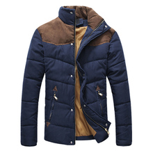 2016 Brand Clothing Winter Jacket Men Warm Causal Parkas Cotton Banded Collar Winter Jacket Male Padded Overcoat Outerwear,YA332