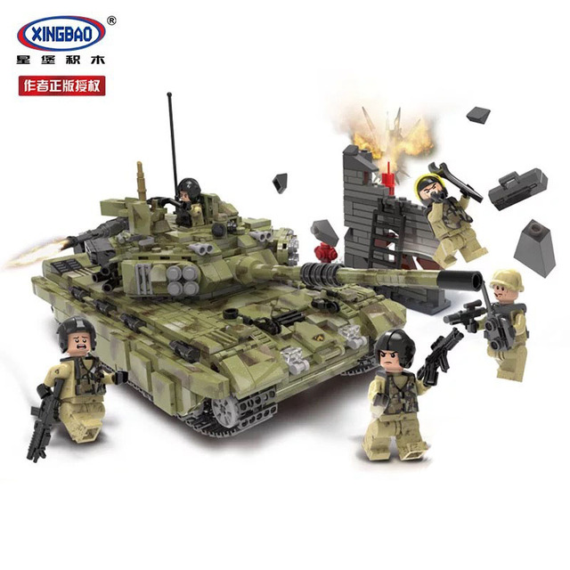 XINGBAO XB06015 Army Series Military Building Blocks Tiger Tank Technic City Police Special Forces Soldier Bricks D35