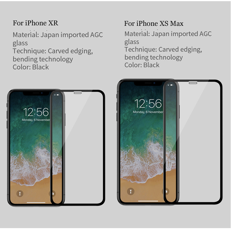 sFor Apple iPhone 7 Plus Tempered Glass Nillkin 3D CP+ Max Full Glue Cover Screen Protector For iPhone 7 8 6 6S X XR XS Max