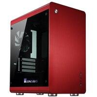 Jonsbo RM3, HTPC ITX Mini cas de l'ordinateur tout en aluminium, 3.5 ''HDD, USB3.0, en verre trempé panneaux latéraux, d'autres C2 V4