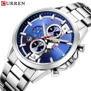 Image 1 - CURREN Fashion Design Watches for Men 2019 Luxury Brand Mens Watch Casual Sport Wristwatch Chronograph Stainless Steel Clock