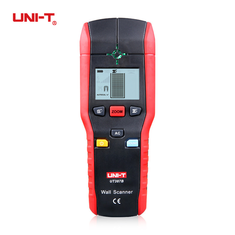 UNI-T UT387B Multifunctional Handheld Wall Detector Copper Metal Wood AC Cable Wall Finder Scanner Accurate Wall Diagnostic-Tool handheld portable metal detector handheld scanner handheld pro pointer for security screening