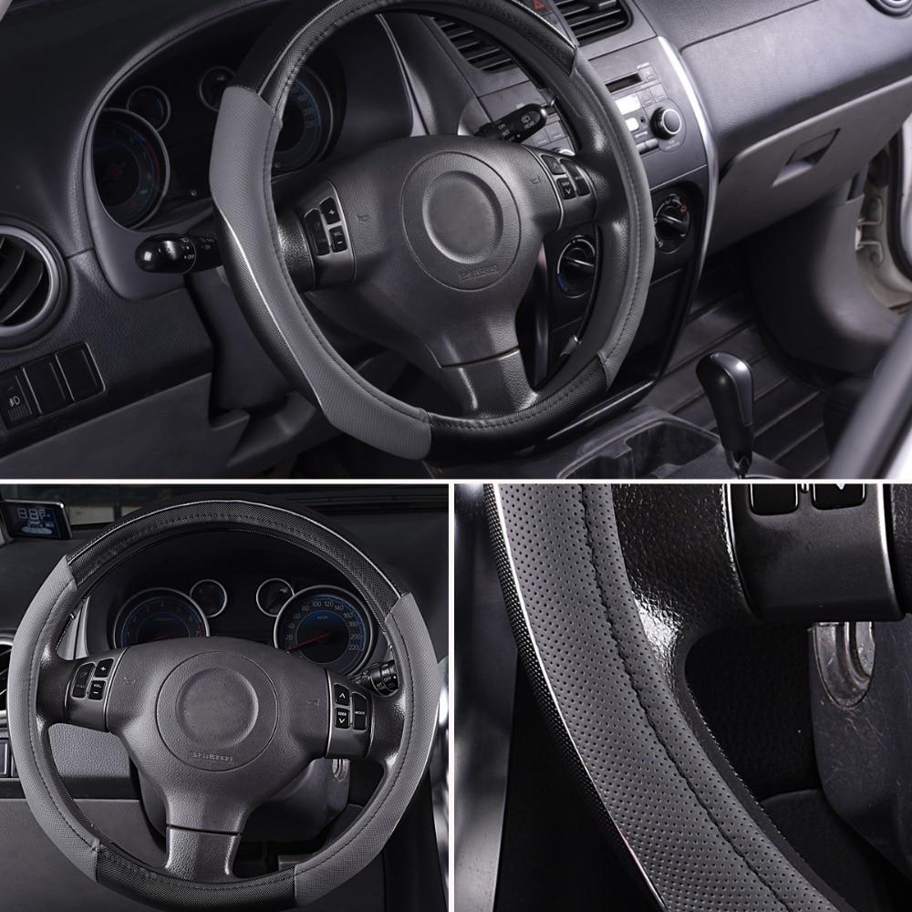 CAR-PASS RAINBOW PVC Кожен универсален волан - Аксесоари за автомобилния интериор - Снимка 5