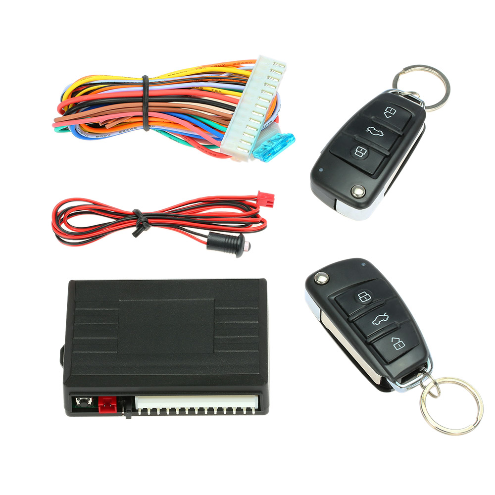 Auto Car Alarm Keychain Remote Control Central Locking Door kit Keyless Entry System with Start Stop Button for Audi Ford BMW smart haa flip key pke car alarm system push start remote start stop engine auto central door lock with shock sensor