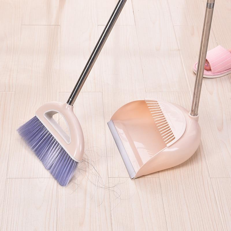 050 Home Scraping Dustpan Sweep Set Sweep Cleaning Tools Household Broom Soft Hair Broom sweep hair soft broom 92 5 25 8 2cm in Brooms Dustpans from Home Garden
