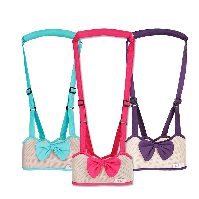 Hot Selling Lovely Bowknot Breathable Baby Walking Learning Assistant Belt BabyToddler Adjustable Safety Strap Wing Harness yourhope baby toddler harness safety learning walking assistant pink