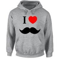 Cute I Love Mustache Gentleman Dad Couple Hoodies Men Women Girl Boy ENGLISH GENTLEMAN Hat Moustache Sweatshirt Hip Hop Jackets