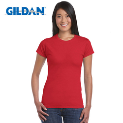 Gildan High Quality 22 Color S-XL Plain T Shirt Women 100% Cotton Elastic Basic T-shirts Female Casual Tops Short Sleeve T-shirt
