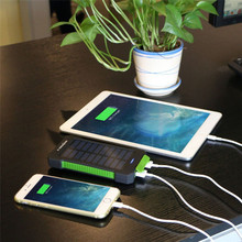 Portable Solar Power Bank 10000mAh External Battery Charger with Camping Lantern for All Mobile Phone and Others