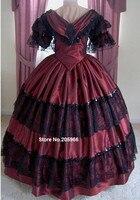 1800 S викторианской платье 1860 S Вечернее Бальное Платье Свадебные вечерние reenactor танцевальный костюм