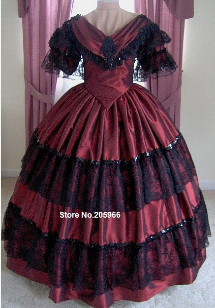 1800s Victorian Dress - 1860s Evening Ball Gown - Wedding Bridal Formal Reenactor Dance Costume