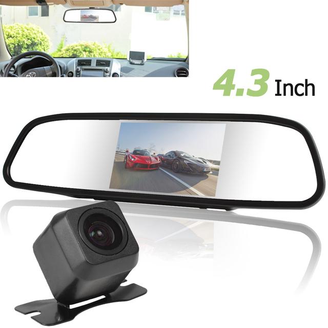Hot 4.3 Polegada 480x272 Tela Colorida de TFT-LCD de 2 Entrada de Vídeo carro Rear View Monitor + E313 420 Linhas de TV Do Carro de 170 Graus câmera
