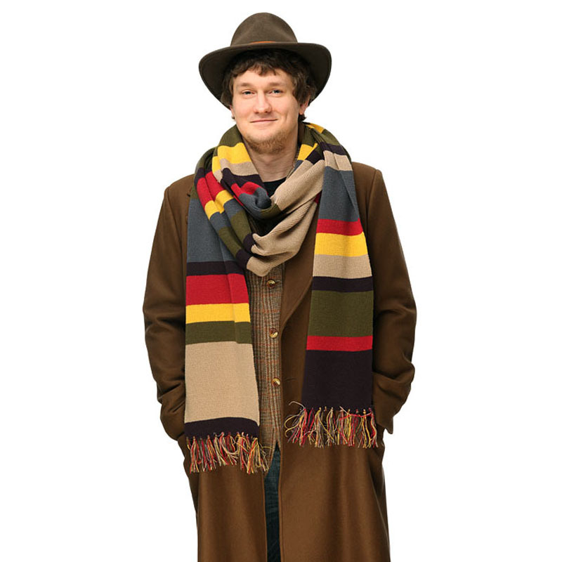 TV Dr Doctor Who Color Stripe Scarf Delxue Stripes Tom Baker Scarf Winter Warm 143 Inch Long Shawl Cosplay Costume Gift Toys