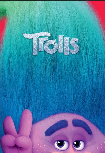 5x7ft geluk trolls poster tak haar custom fotostudio achtergrond
