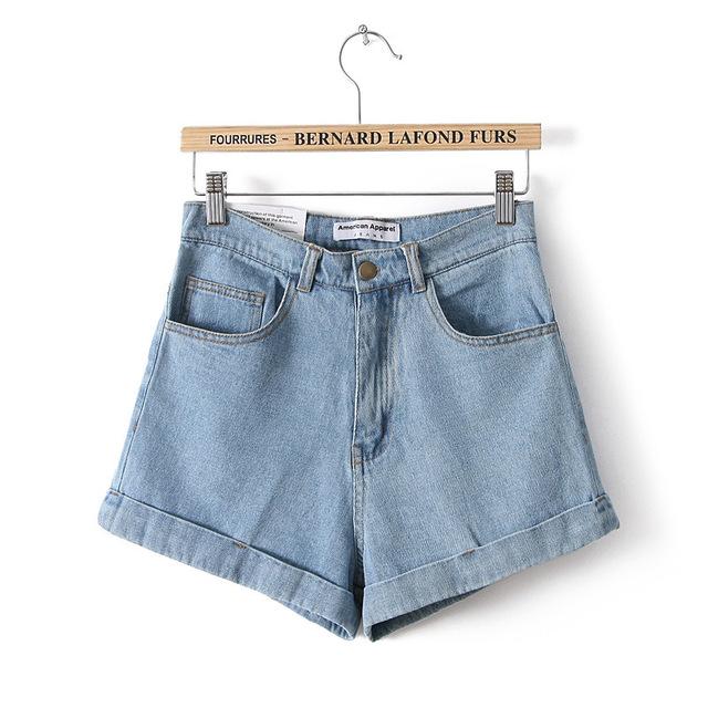 Calças de Brim curtas Marca de Moda Estilo Verão Das Mulheres Shorts de Algodão Solto Casual feminino Magro Denim Cintura Alta Shorts Puro CL0098