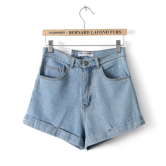 Short Jeans Fashion Brand Summer Style Women Shorts Loose Cotton Casual female Slim High Waist Denim Shorts Pure CL0098