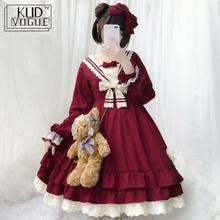 Вечерние платья в японском стиле для девочек, платье лолиты с длинными рукавами и бантом, JSK, карусель, Лолита, косплей, кружевной костюм горничной платья, платье 8446