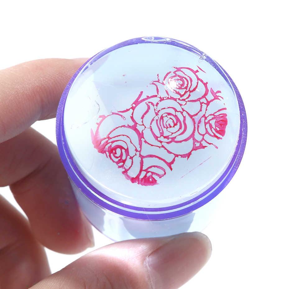 4 ซม.ล้างเล็บ Stamper Scraper Nail Art แม่แบบภาษาโปลิชคำพิมพ์ Transfer ซิลิโคนแสตมป์ DIY ภาพเล็บเครื่องมือ CH1031