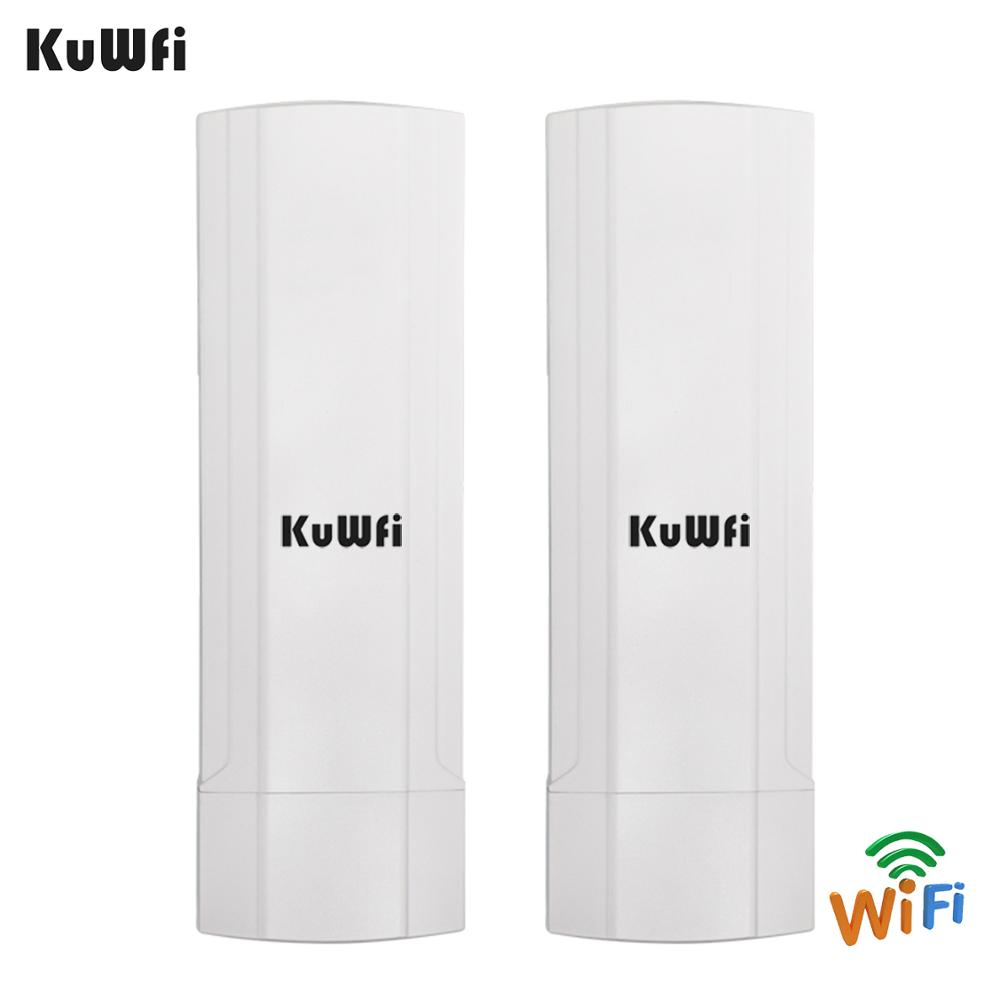 Image 4 - KuWFi Outdoor CPE Router Wifi Repetidor Wifi Extender 2 Pics Transmission Distance Up To 3KM Speed Up To 300Mbps Wireless CPE-in Wireless Routers from Computer & Office
