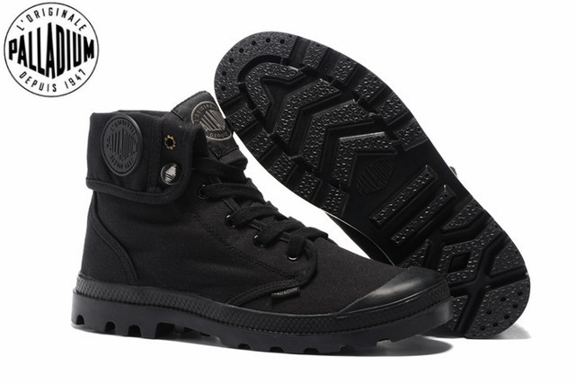 05a4de976 PALLADIUM Pallabrouse All Black Men High top Military Ankle Boots Canvas  Casual Shoes Men Casual Shoes Eur Size 39 45-in Men's Casual Shoes from  Shoes on ...