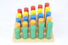 Juguete del bebé Bloques de Cilindros Knobless Montessori Educación Preescolar Formación Preescolar Juguetes Para Niños Brinquedos juguetes