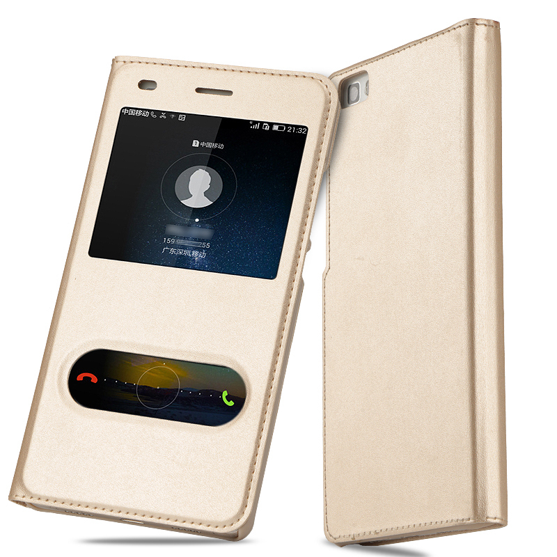 Flip-Case Ale-L21-Cover P8-Lite Huawei Luxury For Windows