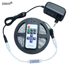 ZINUO DC12V 5630 5730 5M 300led Flexible LED Strip Light Non-waterproof + 12V 2A Power Adapter + 11Key RF Controller
