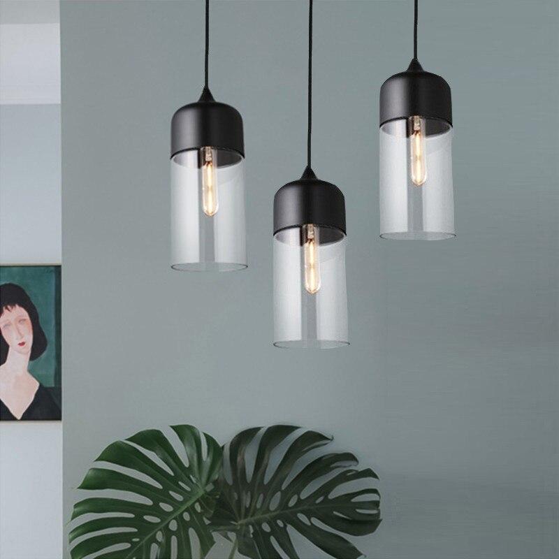 Kitchen Pendant Light Fixtures Bar Modern Pendant Ceiling Lamp Living Room Glass Lighting Home Vintage Industrial Pendant Lights