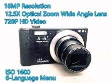 4Pcs/Lot DHL Free Ship Original Dragon 1612HD Digital Camera Photo Camera 16MP 720P Video 12.5x Optical Zoom 2.7″ Screen IOS1600